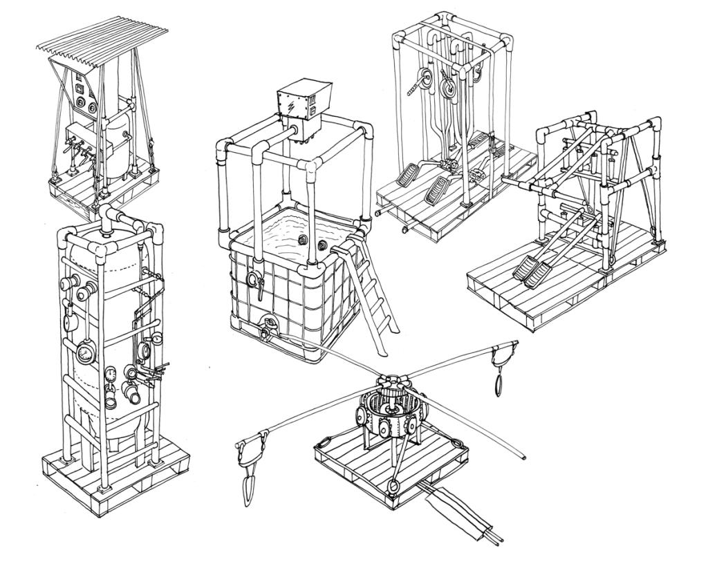 schets Human Power Plant